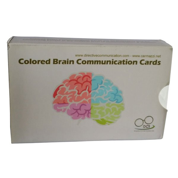 Colored Brain Communication Cards