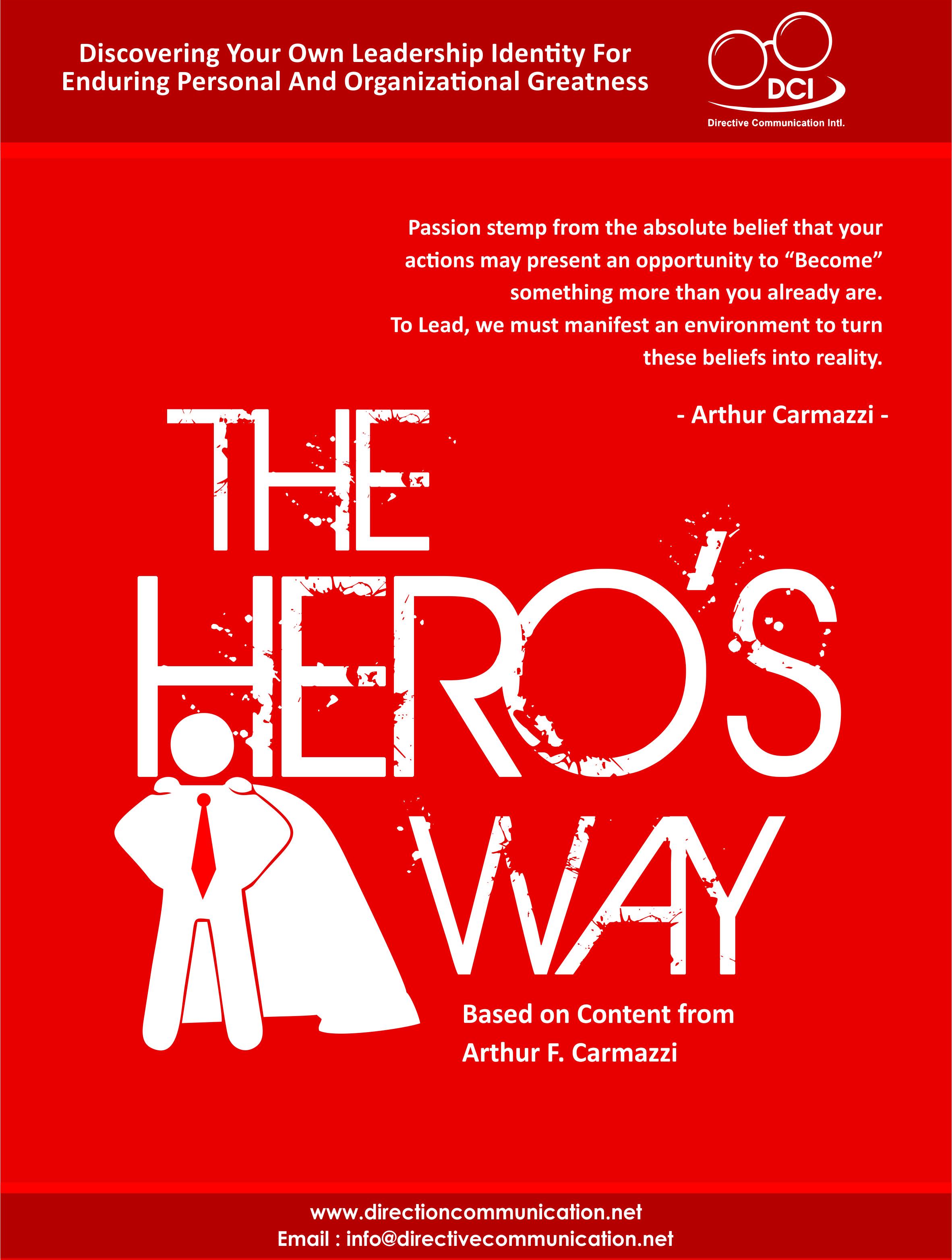 Hero's Way Brochure Cover Solid Color