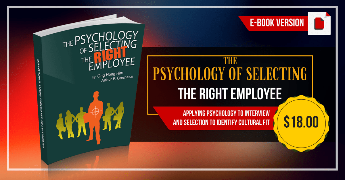 DC Psychology Of Selecting The Right Employee Book
