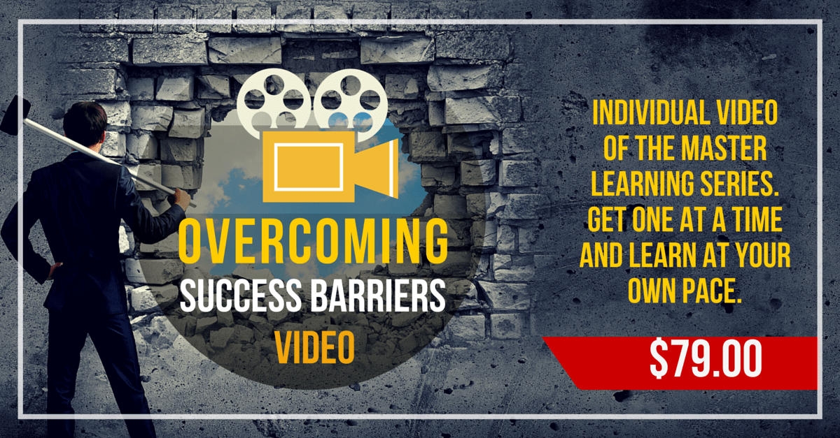 Overcoming Success Barriers Video