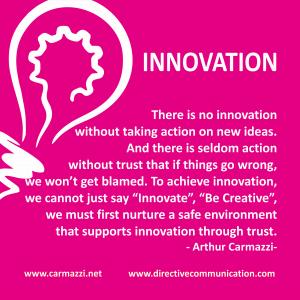 Innovation be creative