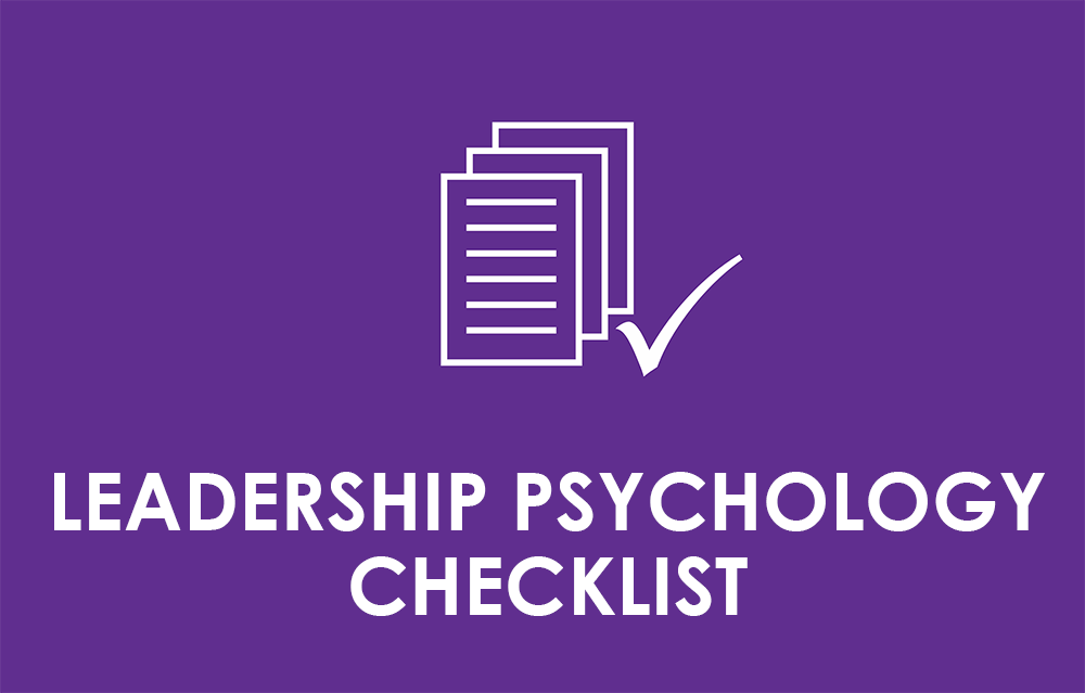 leadership psychology checklist
