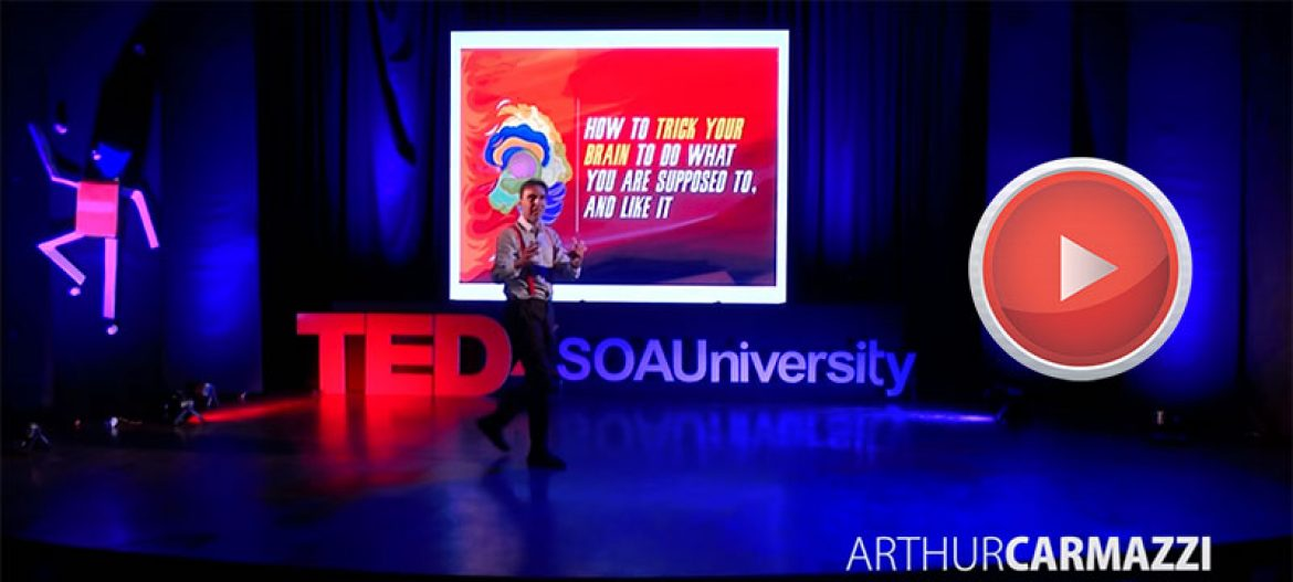 TedX : How to trick your brain to do what you are supposed to & like it